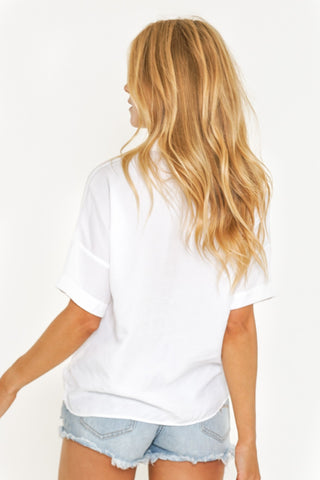 ARIES SHORT SLEEVE SHIRT - WHITE