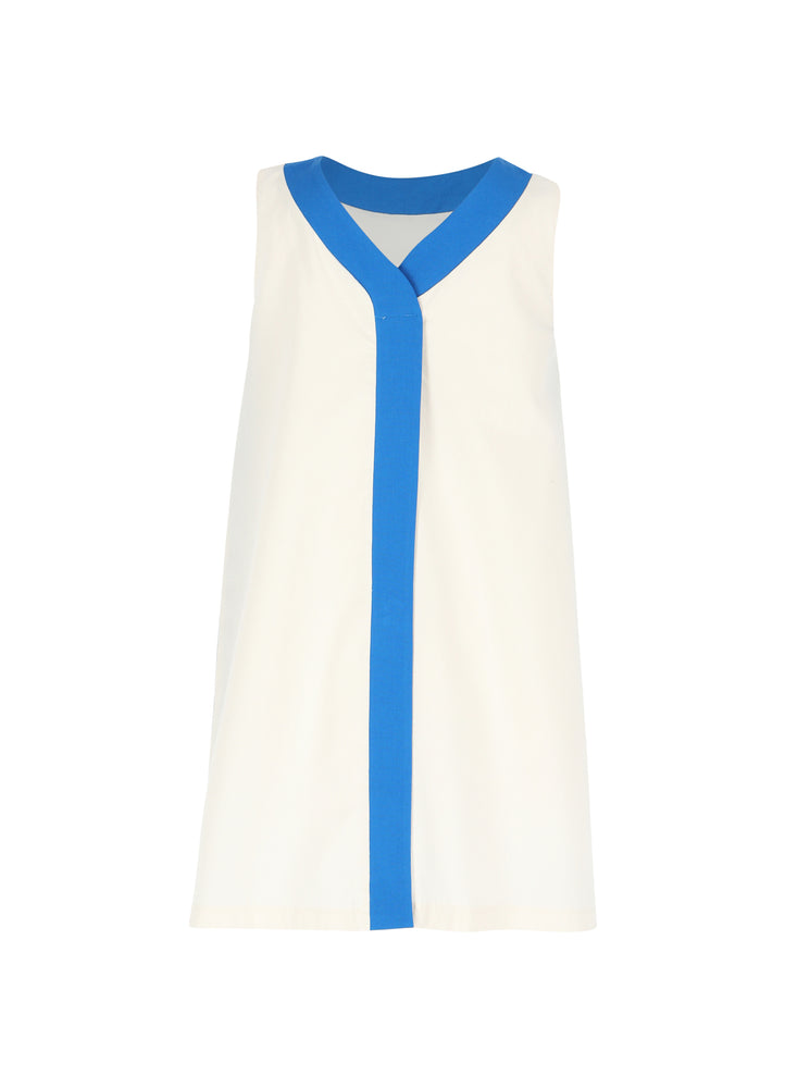 Dress No 1   - Eggnog/Blue