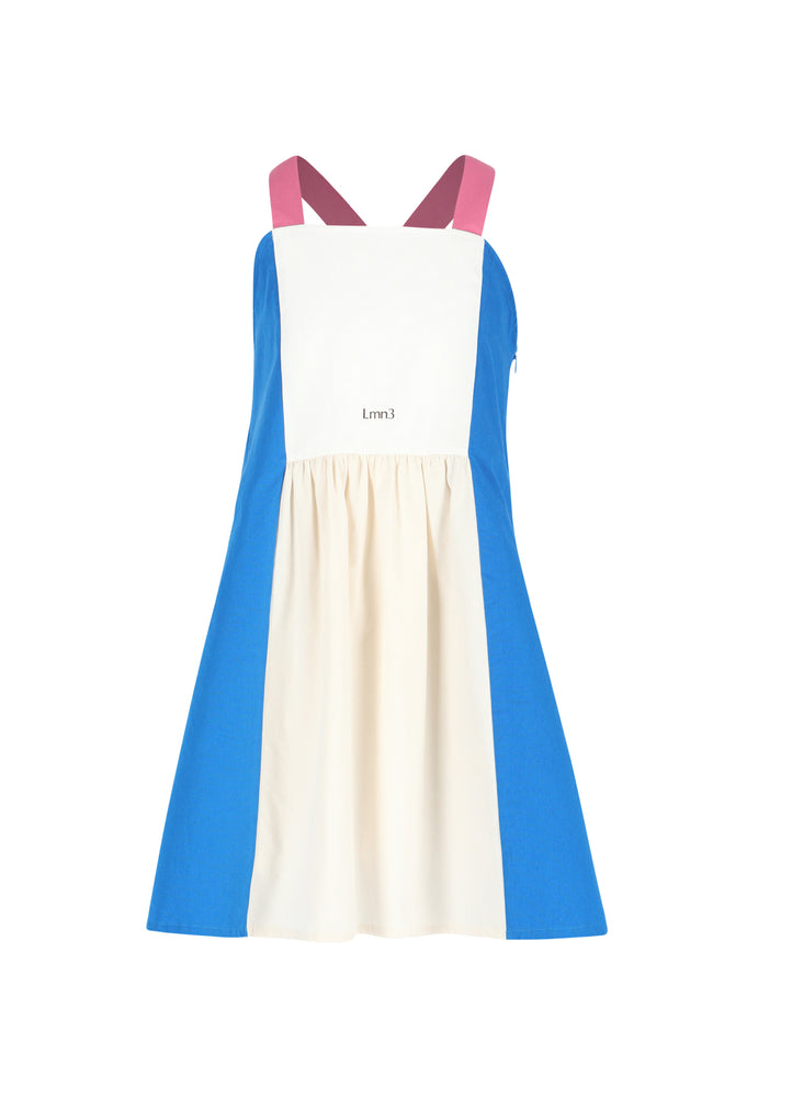 Load image into Gallery viewer, Dress No 4 - Blue/Eggnog