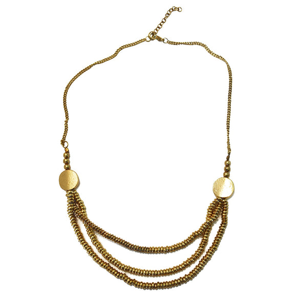 GOLD STRAND NECKLACE
