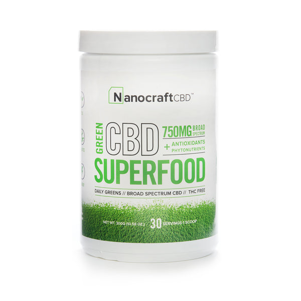 CBD & SUPERFOOD GREEN POWDER