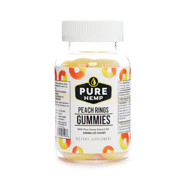 CBD GUMMIES | PEACH RINGS