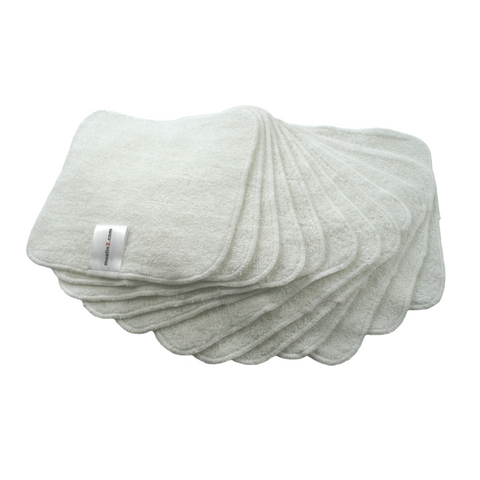 Bamboo Terry Cloth Wipes for babies
