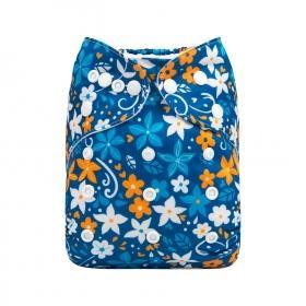 AlvaBaby One Size Star Flower Pocket Nappy - Summer Sweets Baby