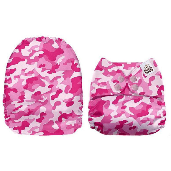 Mama Koala Pink Camo Pocket Nappy