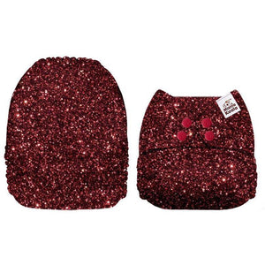 Mama Koala Ruby Red Sparkles Pocket Nappy
