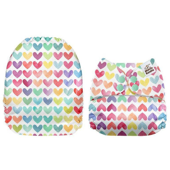 Mama Koala Rainbow Hearts Pocket Nappy