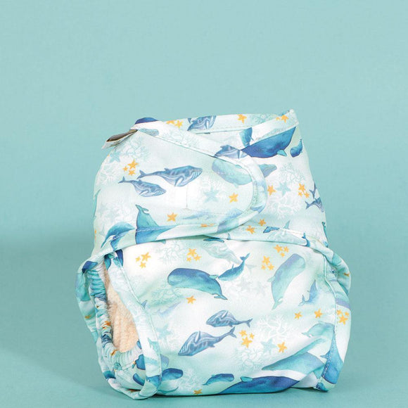 Little Lamb Nappy Cover/Wrap - Under the Sea - Summer Sweets Baby