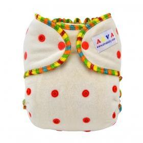 Bamboo Fitted Nappy - Rainbow - Summer Sweets Baby