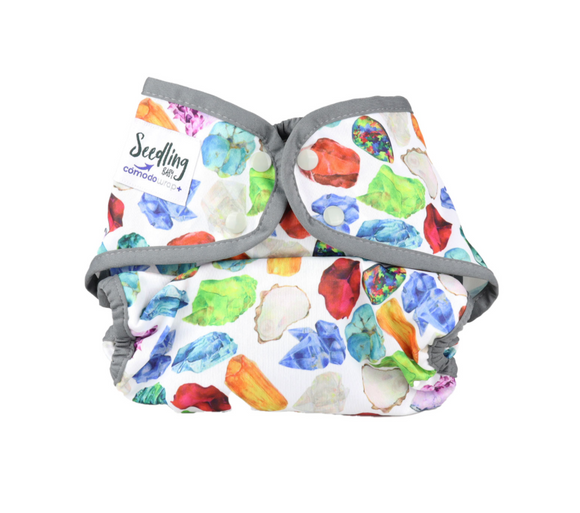 Seedling Baby Cómodo Wrap Plus+ - Birthstone Grey - Summer Sweets Baby