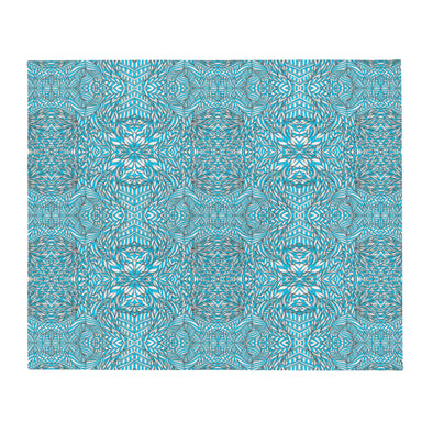 Blue & White Botanical Series Throw Blanket