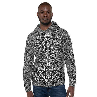 Black & White Botanical Series Unisex Hoodie