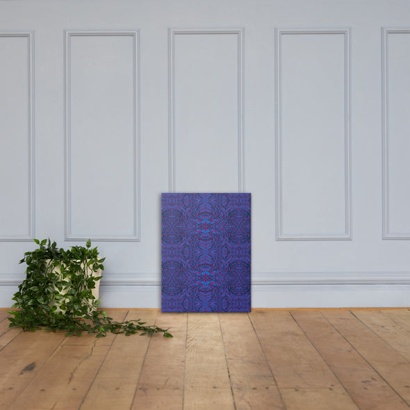 Botanical Purple & Blue Canvas