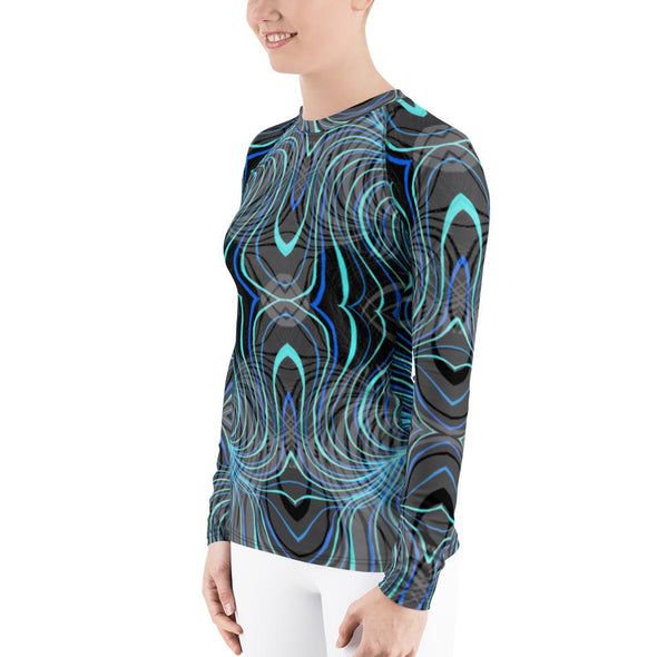 Bleace Liquid Women's Athletic Long-Sleeve Rash Guard