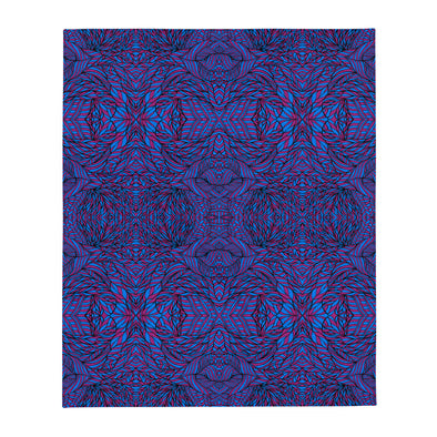 Botanical Purple & Blue Throw Blanket