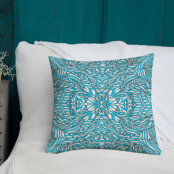 Blue & White Premium Pillow