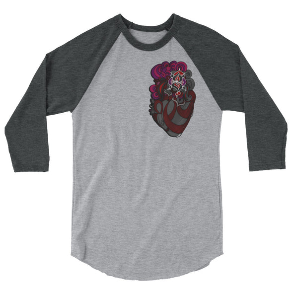 Bleace Heart 3/4 sleeve raglan shirt