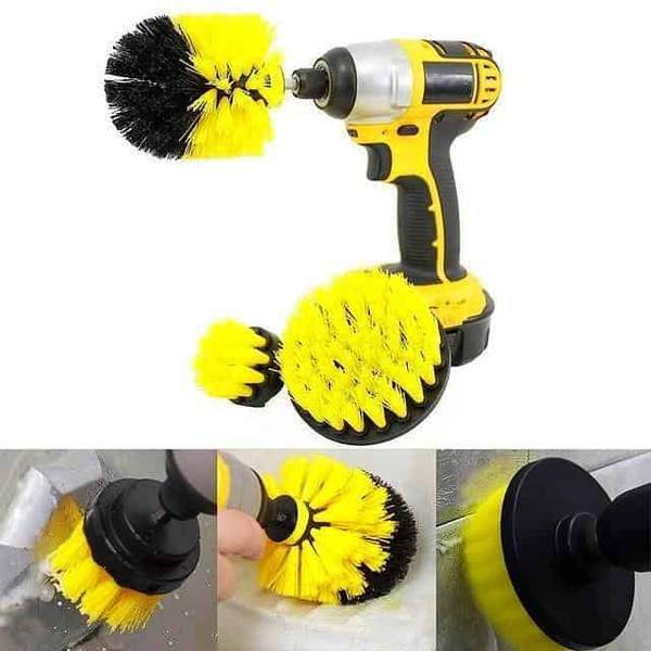 3-in-1 Brush Head Set - Applied For Electric Drill - Actimazo