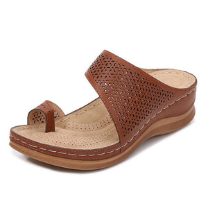 Women's Casual Hollowed-out Toe Wedge Sandals