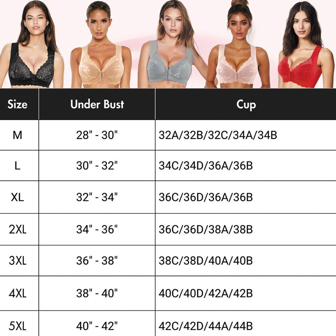 Nature Ultimate Lift Stretch Full-Figure Seamless Lace Front Closure Bra