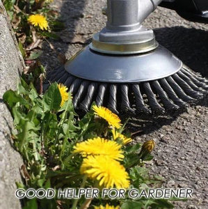 Break-Proof Wired Round Edge Weed Trimmer Blade - Actimazo