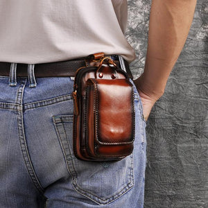 Genuine Leather Outdoor Belt Waist Bag