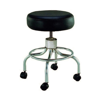 Exam Stool- Revolving (Black)