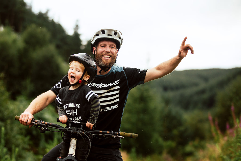 why ride with your kid up front