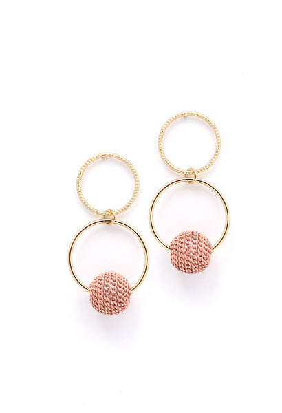 Countdown Drop Earrings - Pink