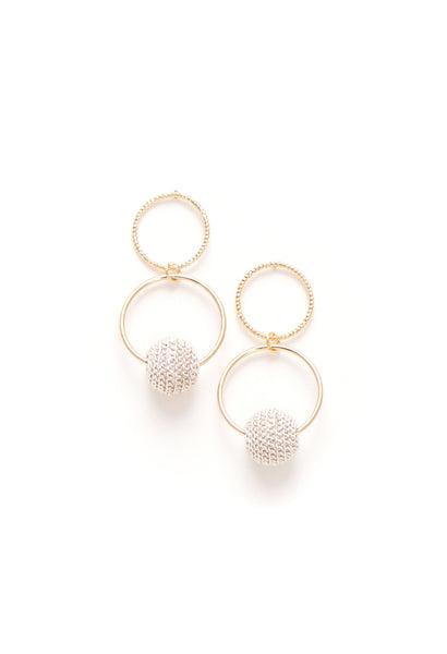 Countdown Drop Earrings - White