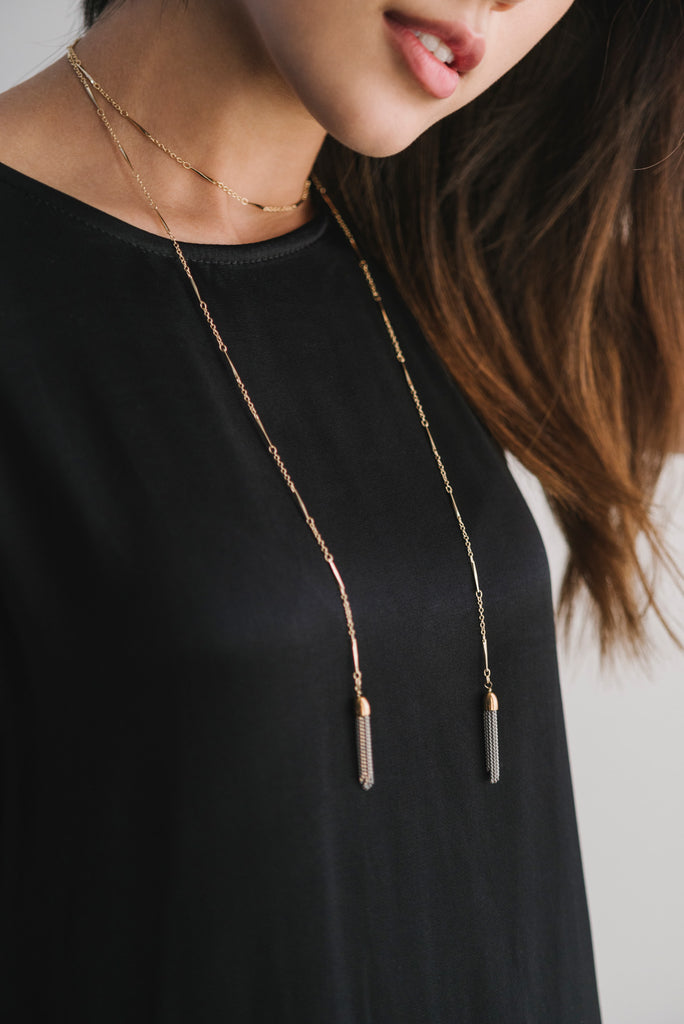 Deja Vu Necklace - Black