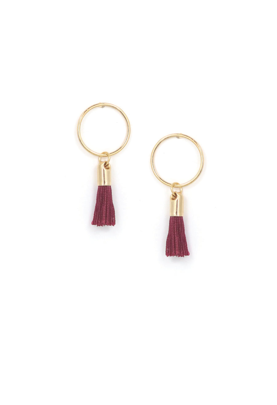 Solar Tassel Post Earrings