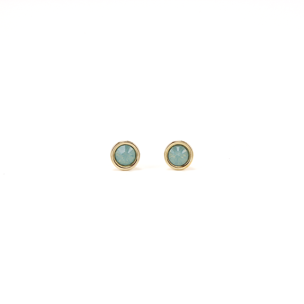 Swarovski Mini Post Earrings - Pacific Opal