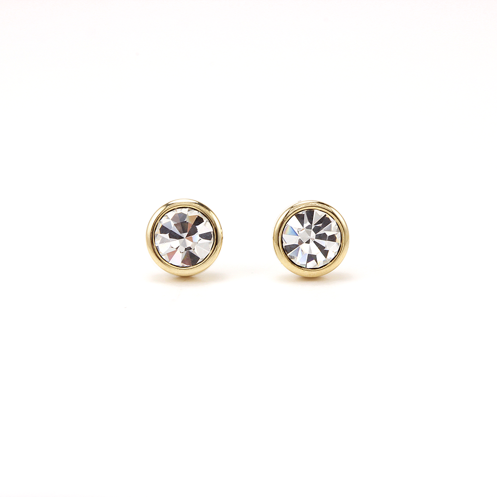 Swarovski Stud Earrings - Clear