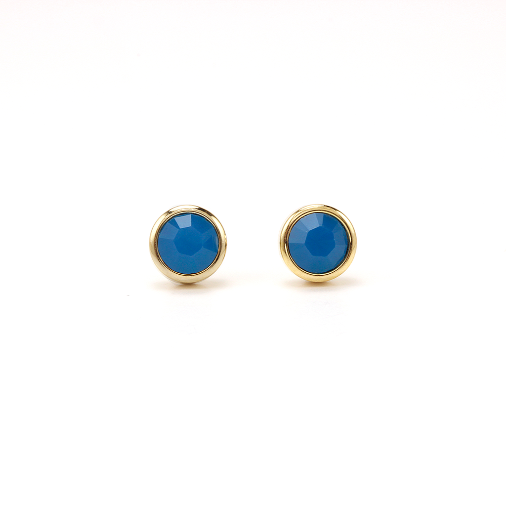 Swarovski Stud Earrings - Carribean Blue Opal