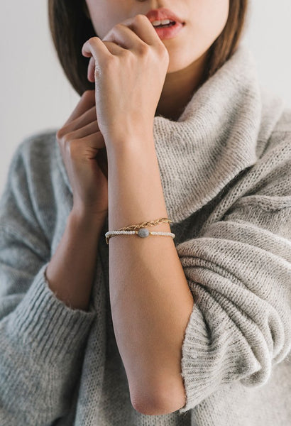 Mila Braided Bracelet - Grey