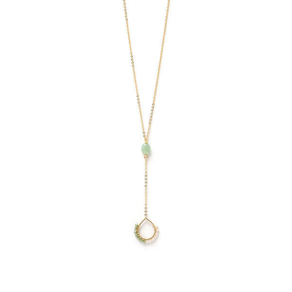 Miranda Drop Lariat - Sea Glass