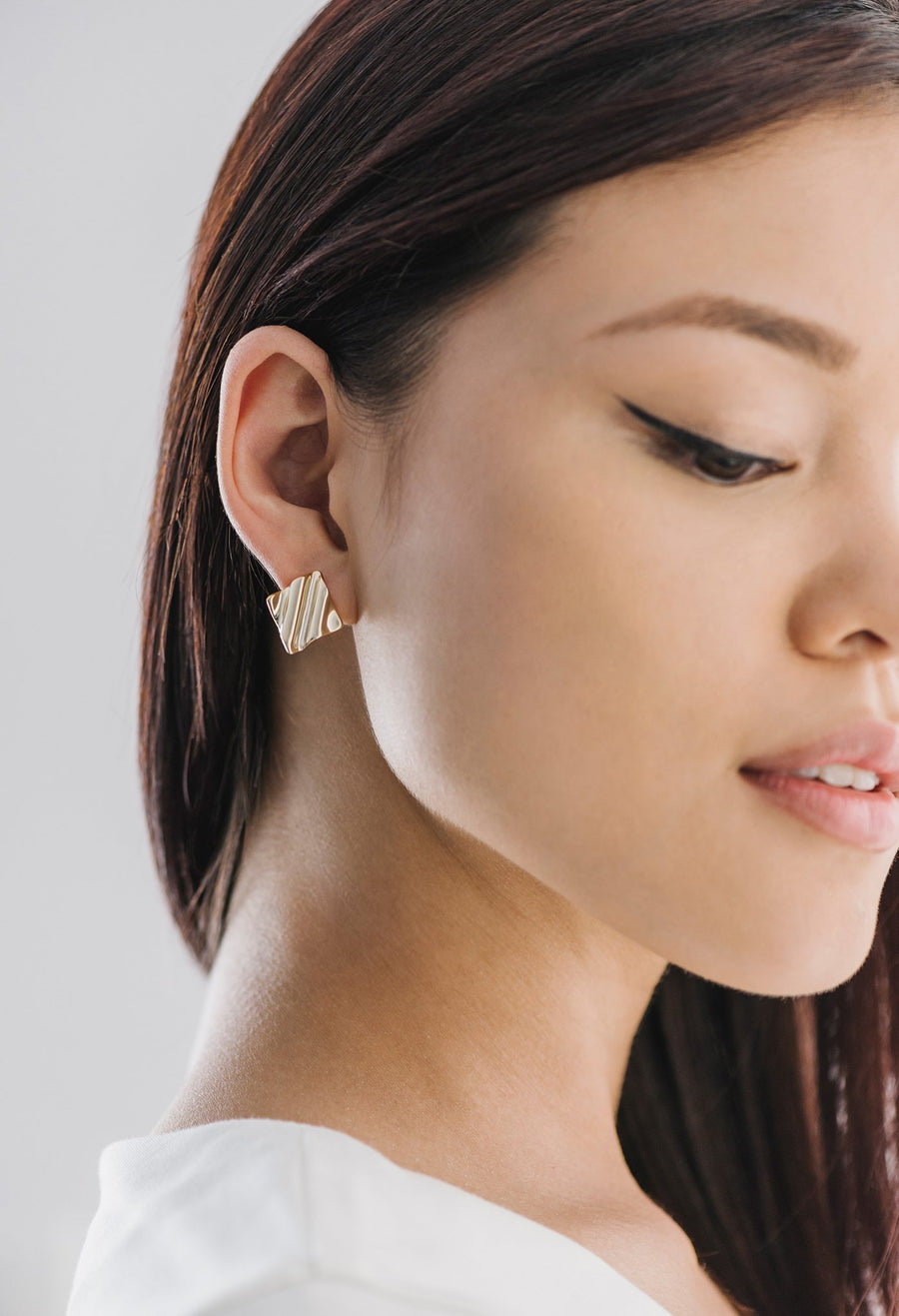 Tidal Diamond Small Earrings