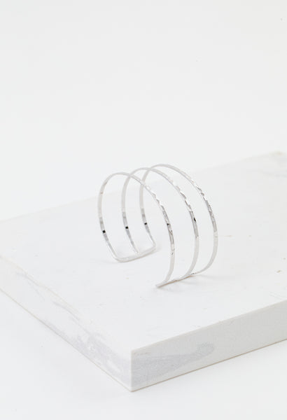 Sayla Hammered Bangle