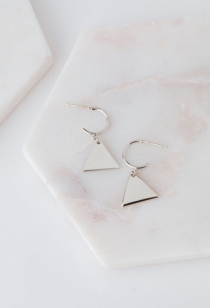 Everly Triangle Hoop Earrings