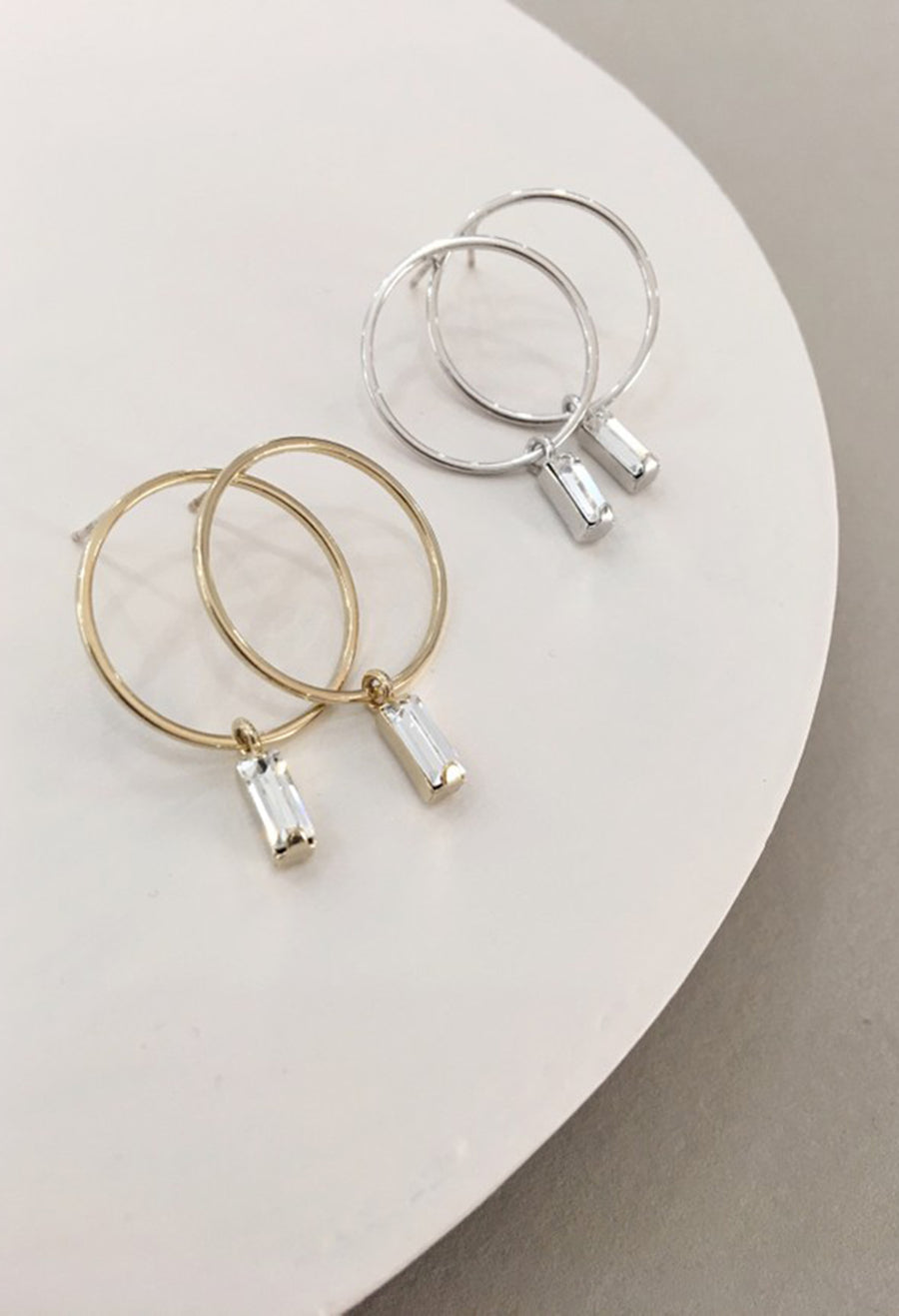 Colette Drop Hoop Earrings