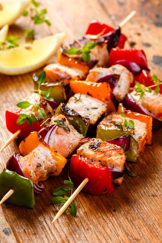 Seafood Skewers (choose your marinade)