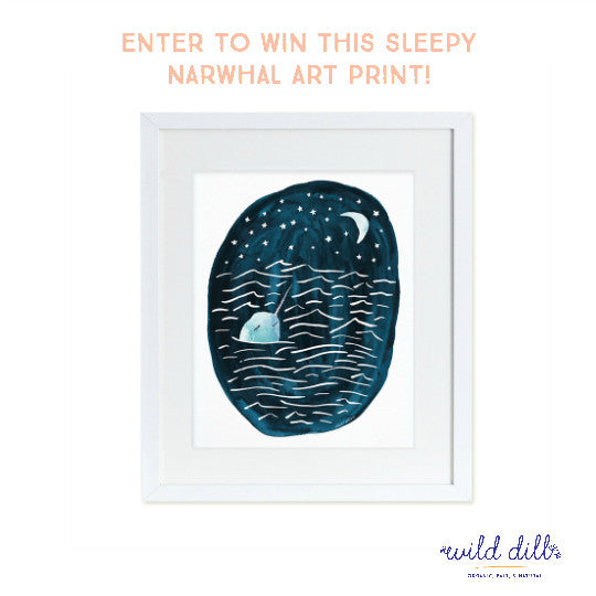 Holiday Giveaway! Enter to win a Sleepy Narwhal art print!