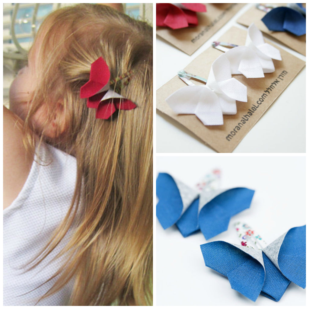 4th july hair clip gift set collage