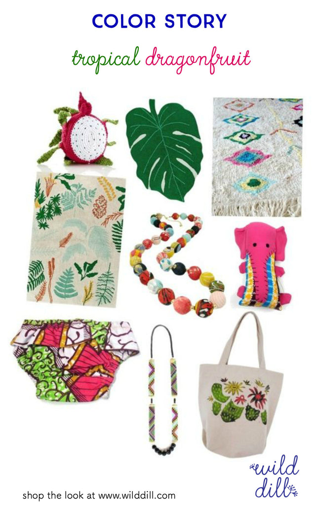 dragonfruit green and pink tropical color trend report