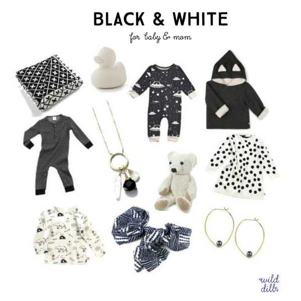 black and white kids style guide