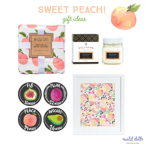 sweet peach collage