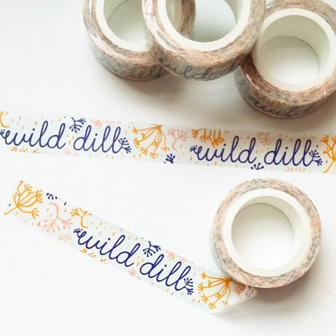 custom wild dill washi tape