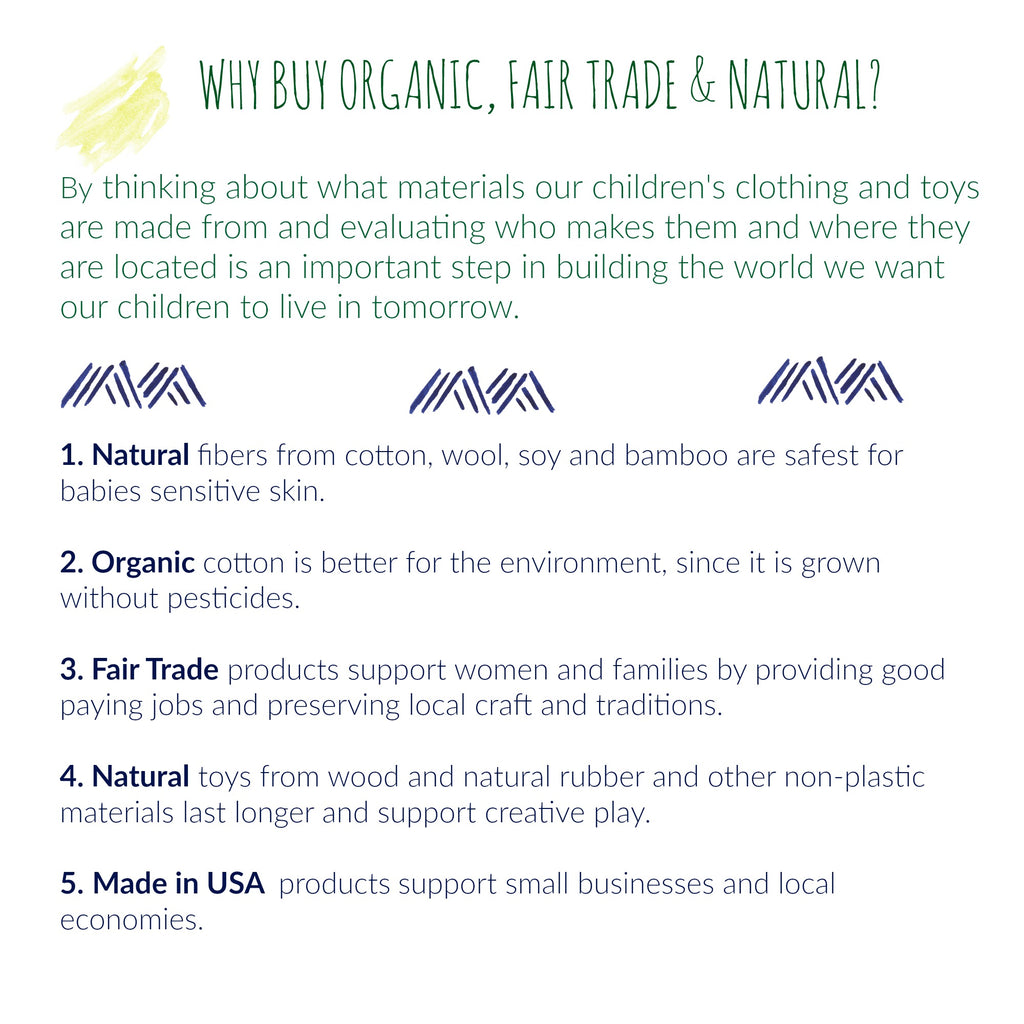why organic fair trade and natural for babies and kids