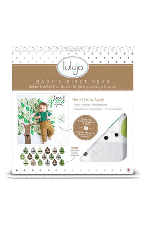 Growing Tree  - Baby's First Year Milestone Swaddle & Cards,Lulujo Baby  - Wild Dill